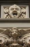 Una pietra Bas Relief a Napoli immagini stock