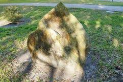 Una pietra con del hawaiano di parola su  Fotografia Stock Libera da Diritti