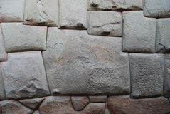 Una pietra di dodici angoli in Hatum Rumiyoc, Cuzco immagine stock