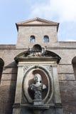 Una pieza de la pared de Avrelian en Roma. Imagen de archivo libre de regalías