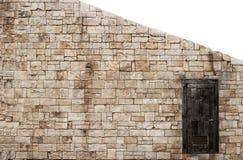 Una pieza de la pared de piedra vieja Imagen de archivo