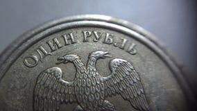 Una pieza de la rublo Fotografía de archivo libre de regalías