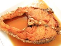 Una pieza de pescados fritos Imagen de archivo