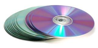 Una pila de Cdes Fotografía de archivo libre de regalías