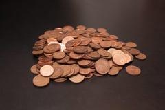 Una pila de centavos euro Foto de archivo libre de regalías