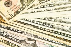 Una pila de dólares Imagen de archivo