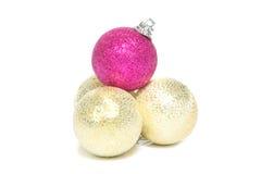 Una pila de decoración de la Navidad Imagen de archivo libre de regalías
