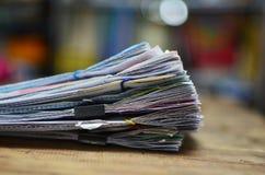 Una pila de documentos Fotografía de archivo