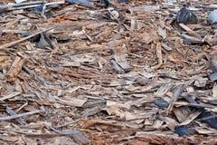 Una pila de escombros fotos de archivo