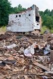 Una pila de escombros Imagen de archivo