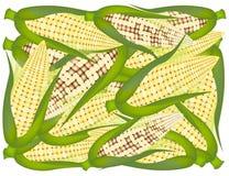 Una pila de fondo fresco amarillo de los granos libre illustration