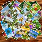 Una pila de fotografías fotos de archivo libres de regalías