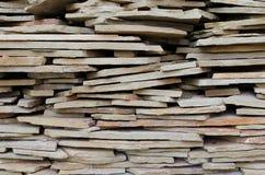 Una pila de ladrillos de la losa Imagen de archivo