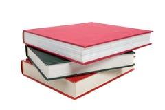 Una pila de libros de textos en blanco Imágenes de archivo libres de regalías