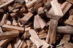 Una pila de madera cortada Fotografía de archivo libre de regalías