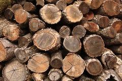Una pila de madera imagenes de archivo