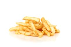 Una pila de patatas fritas Fotografía de archivo libre de regalías
