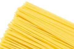 Una pila de primer crudo del extremo de los espaguetis Imagenes de archivo