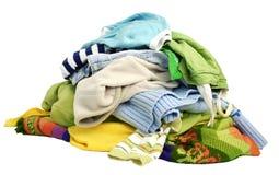 Una pila de ropa Foto de archivo libre de regalías