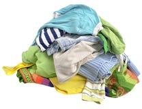Una pila de ropa Imágenes de archivo libres de regalías