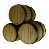 Una pila de tres barriles Imagenes de archivo