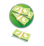 Una pila del dólar Imagen de archivo