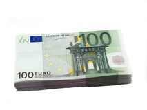 Una pila di 100 euro Fotografie Stock