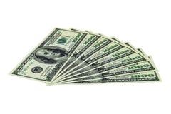 una pila di 1000 banconote in dollari Fotografie Stock Libere da Diritti
