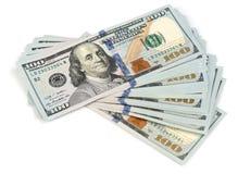 Una pila di cento dollari Immagine Stock Libera da Diritti