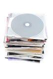 Una pila di dischi Immagine Stock