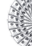 Una pila di 100 dollari su bianco Fotografia Stock Libera da Diritti