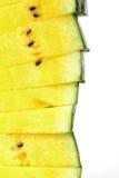 Una pila di fette dell'anguria come fondo Fotografie Stock