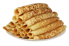 Una pila di pancake. Immagini Stock Libere da Diritti