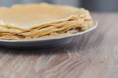 Una pila di pancake Fotografia Stock Libera da Diritti