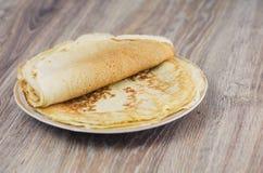 Una pila di pancake Immagini Stock