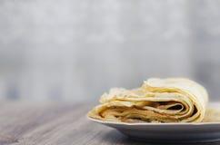 Una pila di pancake Immagini Stock Libere da Diritti