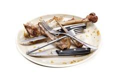 Una pila di piatti sporchi Fotografie Stock
