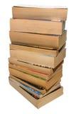 Una pila di vecchi libri di libro in brossura Fotografia Stock Libera da Diritti
