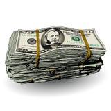 Una pila gorda de 50 billetes de dólar stock de ilustración