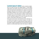 Una pila gorda de 100 billetes de dólar libre illustration