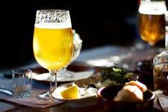 Una pinta di birra Immagini Stock
