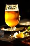 Una pinta di birra immagine stock