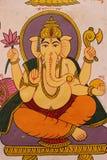 Una pintura de dios hindú Ganesha imagen de archivo libre de regalías