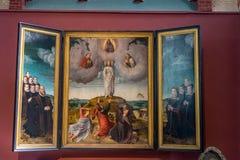 Una pintura de Jesús Chrst en la ciudad de Brujas foto de archivo libre de regalías