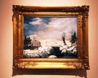 Una pintura de paisaje del museo de New Britain del arte americano foto de archivo libre de regalías