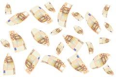 50 euro fatture Fotografie Stock