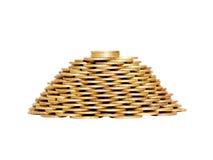 Una pirámide de monedas Fotografía de archivo libre de regalías