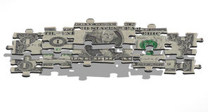 Una pirámide del dólar Imagenes de archivo
