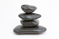 Una piramide di quattro pietre Immagini Stock Libere da Diritti