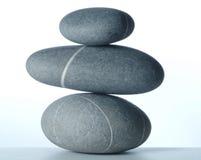 Una piramide di tre stones-2 Fotografie Stock